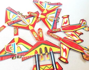 Vintage Toy Airplanes 1940s Party Favors, Litho Airplanes, Horse Racing Games, Prizes, Japan Hong Kong, Party Decor