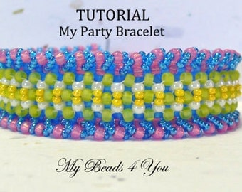 PDF Beading Tutorial, Beading Pattern,Seed Bead Pattern,Seed Bead Tutorial, PDF Beading Instructions, Jewelry Making Instructions, Pattern