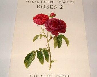 1956 Pierre Joseph Redoute Roses 2 by Eva Mannering with 24 Plates First Edition The Ariel Press KG Lohse Vintage Book of Flowers