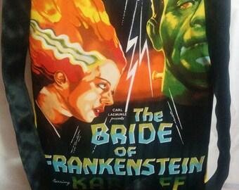 Handmade Robert Kaufman Horror Movie Poster Cross Body Bag Bride of Frankenstein  Jekyll & Hyde