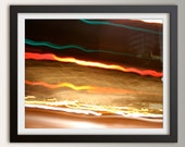 "Abstract Photography Print - Unique Art Print - Urban Night Photography - Modern Art - Urban Loft Art - "" Fleeting """