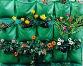 Garden wall Planter , Vertical hanging 20 pockets , green  garden planter