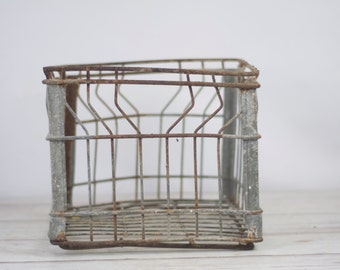 Wire Milk Crate Bowman Dairy Metal Milk Crate 1965 Milk Delivery Crate Box