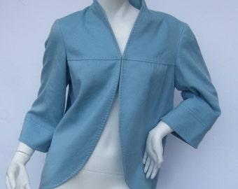 Cashmere Luxurious Sky Blue Womens Jacket US Size 4