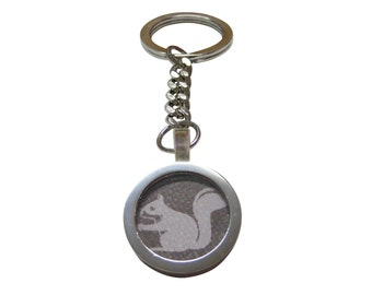 Gray Squirrel Key Chain