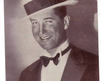 Headshot of Maurice Chevalier  Offset Printing on Lightweight Stock Promotional Photo