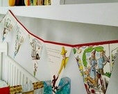 Curious George and the Birthday Surprise Book Bunting// party decor// kid's banner