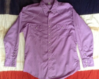 Vintage pearl snap button shirt