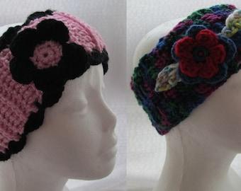 Ear Warmers in crochet, headband, winter headband