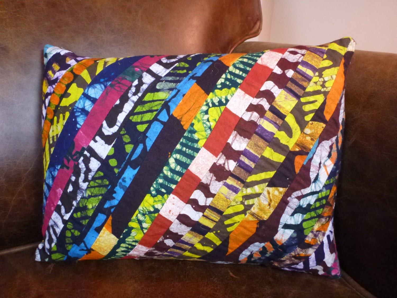 Throw Pillows Jysk : Ghanaian Print Decorative Throw Pillow Cover 12 x 16