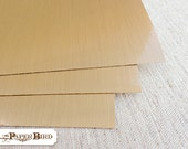 12 x 14 & 12 x 24 Metallic Brushed Gold Vinyl Sheets for Cricut Silhouette Craft Supplies Sold in 3 Sheet Sets