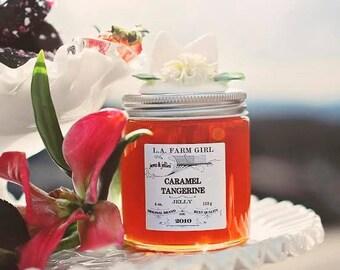 Caramel Tangerine Jelly - L.A. FARM GIRL Jams & Jellies For Rustic Farm Barn Cottage Chic Ranch Boho Favors