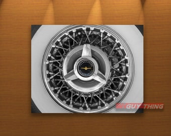 T-Bird, Ford Car, Thunderbird, Hubcaps, Ford Thunderbird, Car Art, Wheel Picture, Automotive Art, T Bird, Wheel Art, Hub Cap