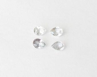 Natural Light Blue Sapphire, Unheated, Pear Cut, Lot (2) of 0.82 carat
