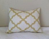 Saffron Yellow Moroccan Tile Zippered Pillow Cover