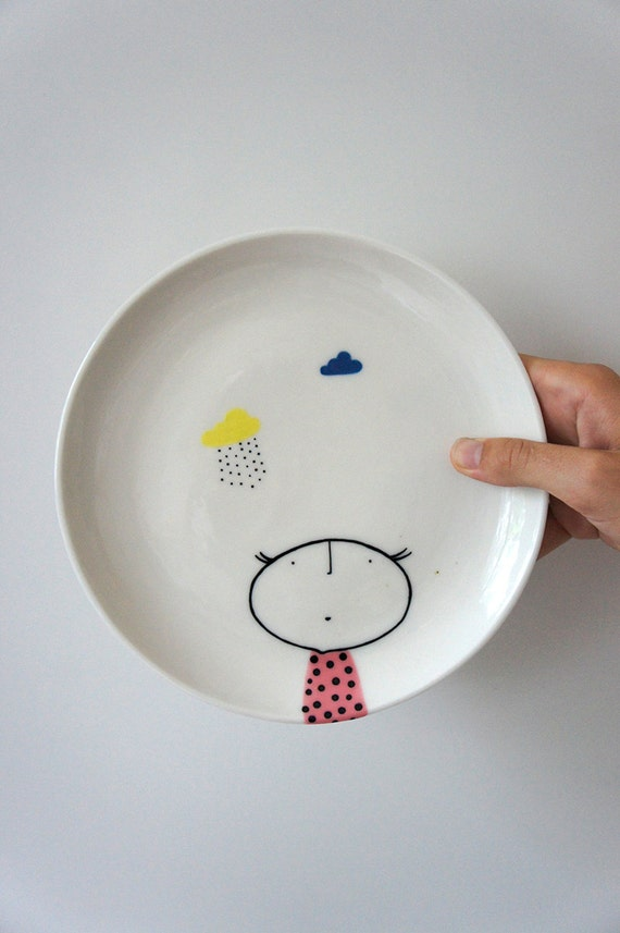Hand painted plate ceramic porcelain pottery for Where to buy ceramic plates to paint