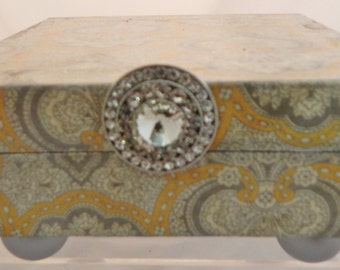 Yellow and Grey Decorative Box