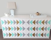 Triangle Nursery Design Decals - Dresser Decals fit any Malm Ikea Dresser - Ikea Hack - Triangle Project Nursery Trend - Nursery Decor