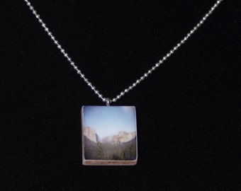 Photo Pendant Necklace - Yosemite - jewelry - scrabble tile necklace