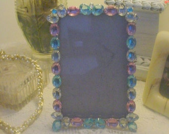 Frame Rhinestones Multicolor Tabletop Sparkle Romantic French Country