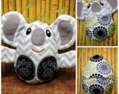 Peekaboo Koala In the Hoop Stuffed Softie - Reversible folds into an egg, ITH, IN The Hoop, Embroidery Design, Instant download