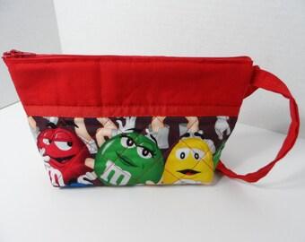 MMs Cosmetic Bag - Wallet - Clutch - Zippered Pouch - Pencil Case - NHLToiletry Bag - NFL Toiletry Bag - Makeup Bag - Travel Bag