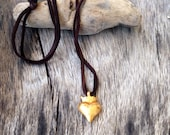 Crown of hearts, gold plated, brass pendant