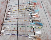Native American inspired design - Feather hair clips