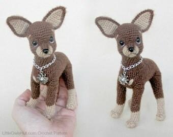 059 Toy Terrier dog - Crochet Pattern PDF file Amigurumi by Chirkova Etsy