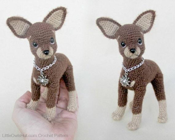 059 toy terrier dog crochet pattern pdf file amigurumi by. Black Bedroom Furniture Sets. Home Design Ideas