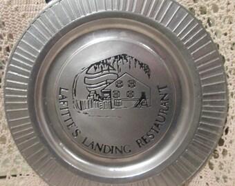 Vintage Metal Charger/ Plate for Lafitte's Landing Restaurant