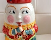 RESERVED for P Vintage Humpty Dumpty Cookie Jar Mother Goose Shafford 1986 LARGE 12 Inches Tall