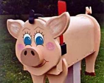 Farm Animal Mailboxes - Pig mailbox