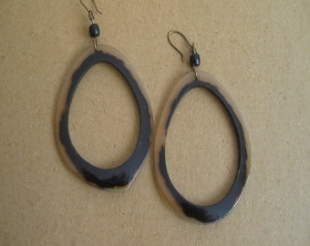 earrings horn height 6 cm  width6 cm very good condition