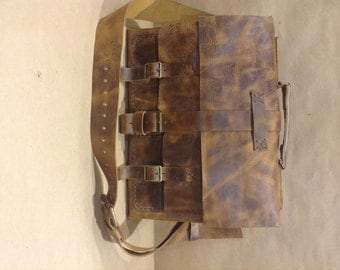 Leather Messenger Bag, Handmade Leather Unisex Briefcase, Womens And Men Briefcase