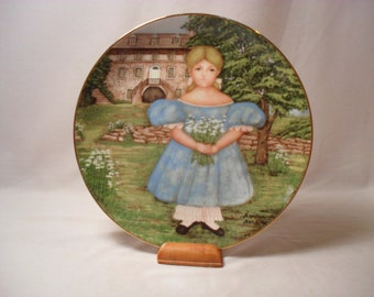 Ann by the Terrace by Barbara Marsten Knowles Collector Plate