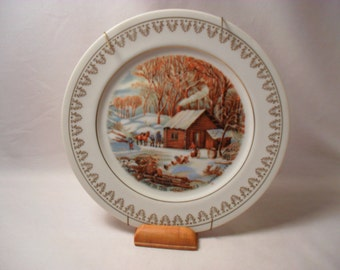 A Home in the Wilderness Currier and Ives Plate