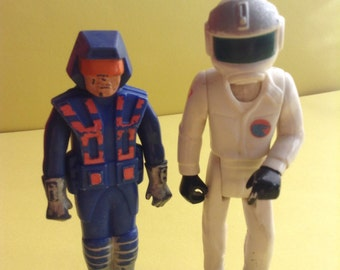 70s Fisher Price Adventure People, male, set of 2, pilot/rescue worker, robot, original, collectible, egst, Greece