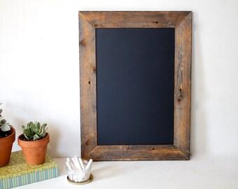 17x23 Chalkboard- Gift for Her - Kitchen Chalkboard - Reclaimed Wood Framed - Wedding Chalkboard - Calligraphy