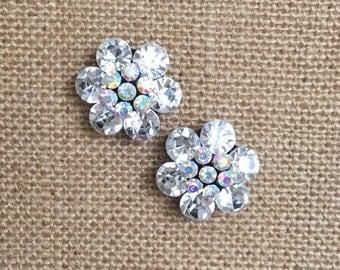 Crystal Flower Studs