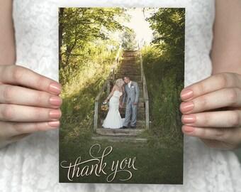 DIY Printable Two Photo Wedding Thank You Card - Tiffany & Darren