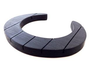 Cuff Bracelet Ebony Wood Upcycled Fretboard Jewelry
