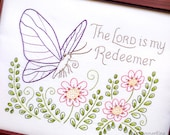 My Redeemer - Beginner Sampler Embroidery Pattern with Butterfly