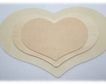 Large Wooden Country Hearts, Wedding Hearts, Wood Heart Guest Book, You Choose Your Size and Quantity-