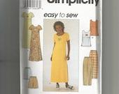 Simplicity pattern 8566 Misses Dress Top Pants Shorts Size 18 20 22