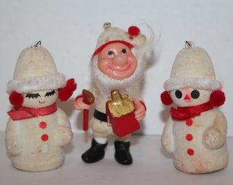 Christmas Decorations Collectible Style Orniments  Made In Hong Kong