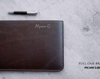 "MONOGRAM.  NAPA leather  for Macbook Air 11"" ..  Brown, Full case."