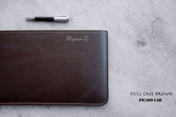 "MONOGRAM.  NAPA leather  for Macbook Air 11"" ..  Brown, Full case."