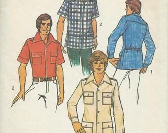 Simplicity 6956 Teen Boys Sports Shirt & Safari Type Shirt Pattern, Size 14 -16