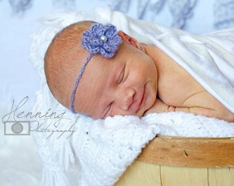 Newborn Crochet Flower Headband